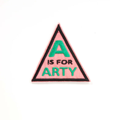 MW Studio - Iron on Cloth Patch - A is for Arty Pink