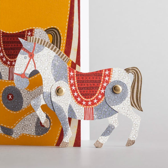 circus horse puppet from alice melvin cut out and make card