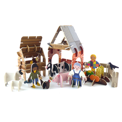 Playpress - Farm Build & Play Set