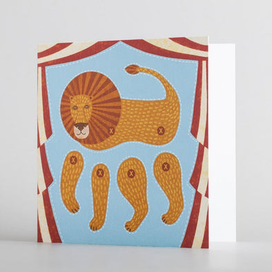 Kids lion puppet card by alice melvin to cut out and make