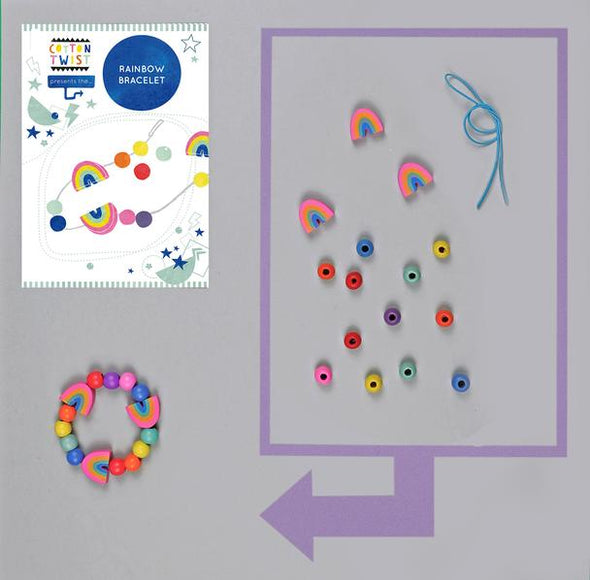 Cotton Twist - Mini Craft Kit - Rainbow Bracelet