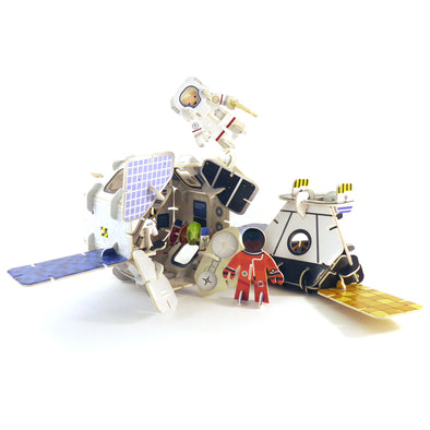 Playpress - Space Station Build & Play Set