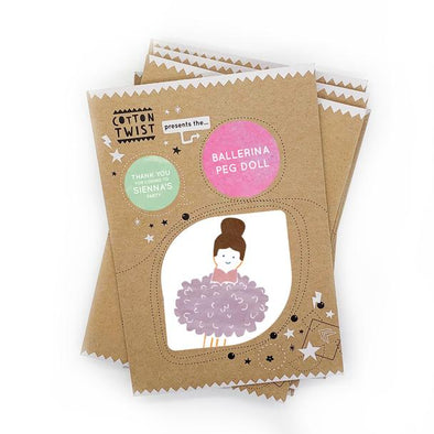 Cotton Twist - Mini Craft Kit - Pom Pom Ballerina Peg Doll