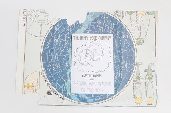 The Happy Book Company - Colouring Book - The Girl Who Walked to the Moon