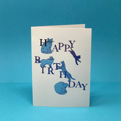 Ark Colour Design - Card - Happy Birthday Cats