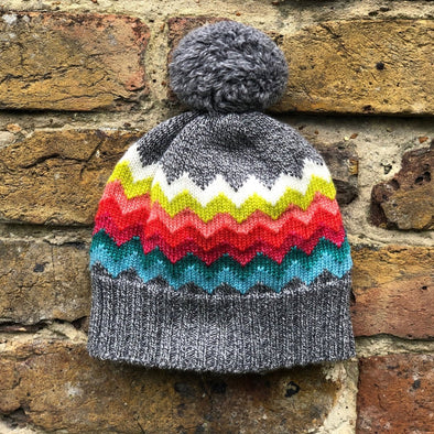 The Faraway Gang - The Navigator Hat - Grey Rainbow - 100% Merino