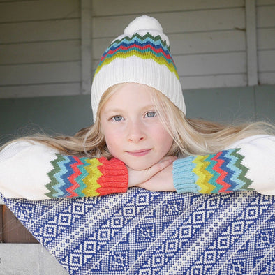 The Faraway Gang - The Navigator Hat - Cream Rainbow - 100% Merino
