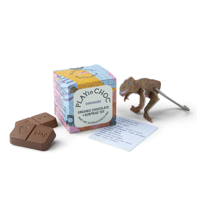 Play in Choc - Toy & Chocolate Box - Dinosaur