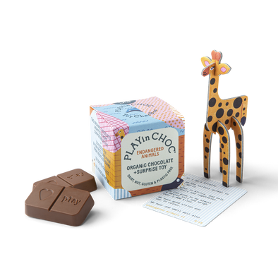 Play in Choc - Toy & Chocolate Box - Endangered Animals