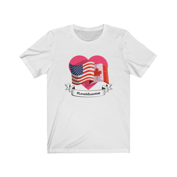 Love Is Essential (Flags) V2 - Unisex Jersey Short Sleeve Tee