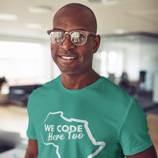 We Code Here Too - Unisex Short Sleeve Tee