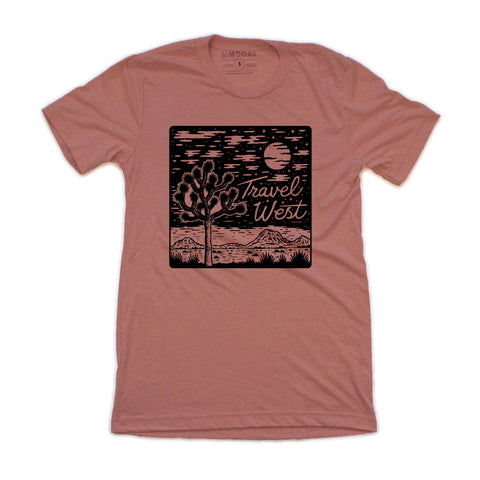 Travel West Shirt - Heather Mauve