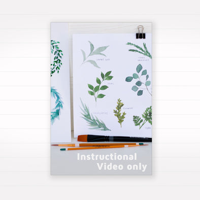 Learn to Watercolor: Leaves & Laurels (Instructional Video Only)