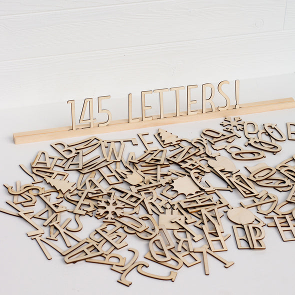 Wood Letter Ledges