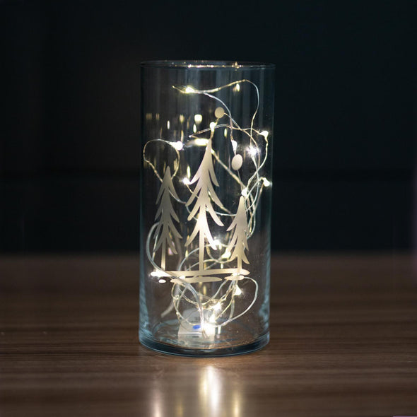 Etched Glass Luminary