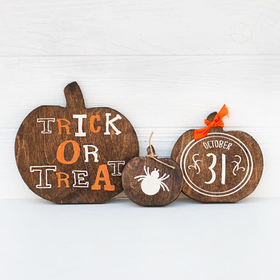 Cute Fall Pumpkin Trio (reversible)