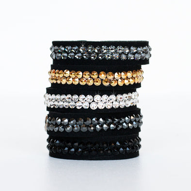 DIY Sparkle Snap Bracelet Kit (your color choice of Swarovski Crystals)