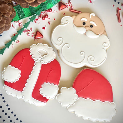 Santa Royal Icing Sugar Cookie Decorating Kits