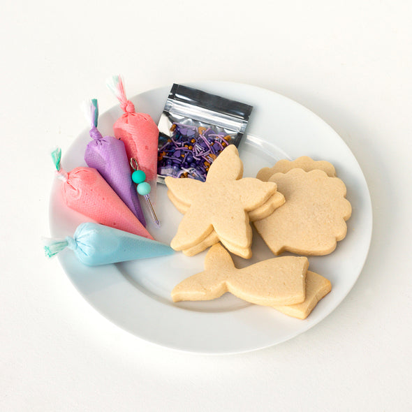 Royal Icing Sugar Cookie Decorating Kits (choose Mermaid or Pizza)