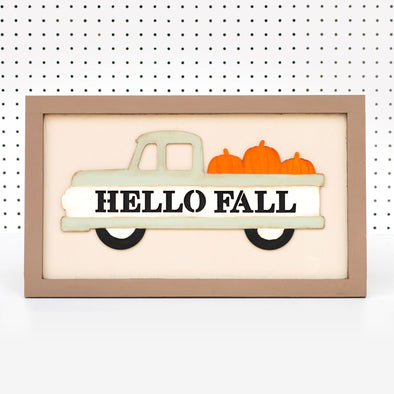 Hello Fall | Merry & Bright reversible sign