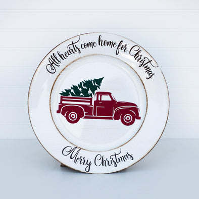 Decorative Christmas Plate (with options)