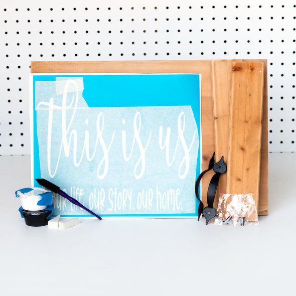 Wood Tray Sign w/ Handles (with options)