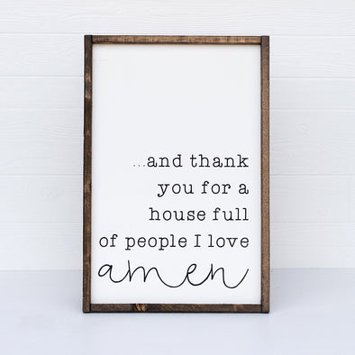 Amen Farmhouse Sign