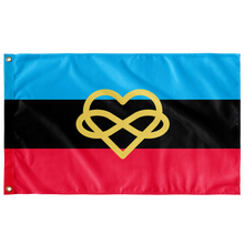 Load image into Gallery viewer, Infinity Heart Polyamory Pride Flag