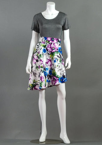 High Waisted Asymmetrical Skirt