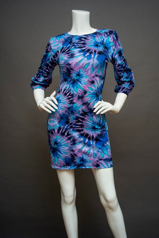 Tie-Dyed Knit Dress