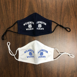 Adult and Child Size Wilmington Wildcats Adjustable Masks