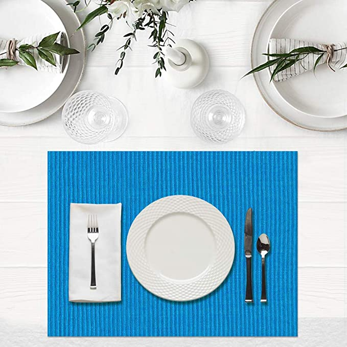 Ribbed 100 Cotton Placemats Essencea Living