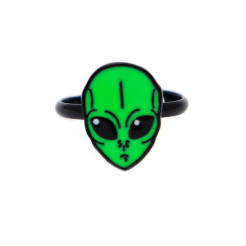 Alien Head Ring