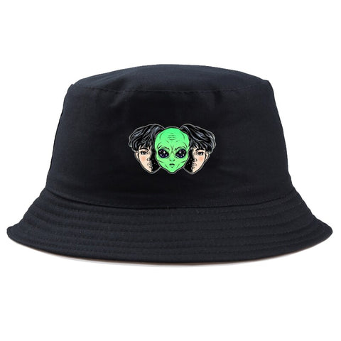 Head with Alien Hat Black