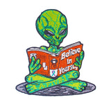 Alien Reading a Book Patch