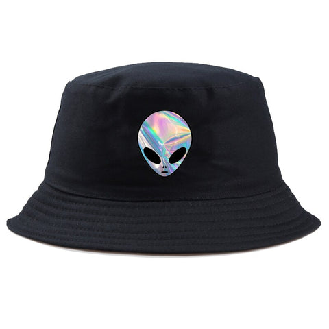 Trippy Alien Hat Black
