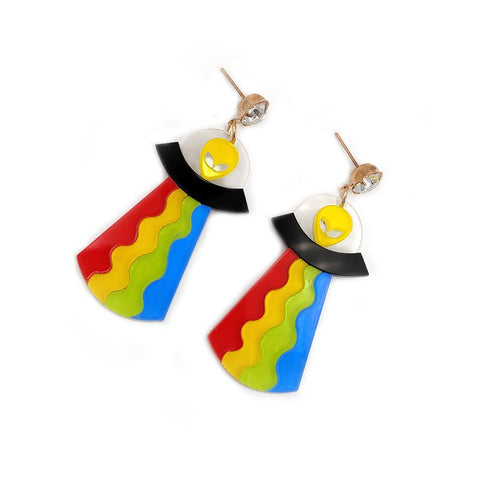 Alien Earrings <br> Colorful UFO