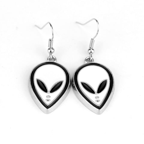 Alien Head Earrings