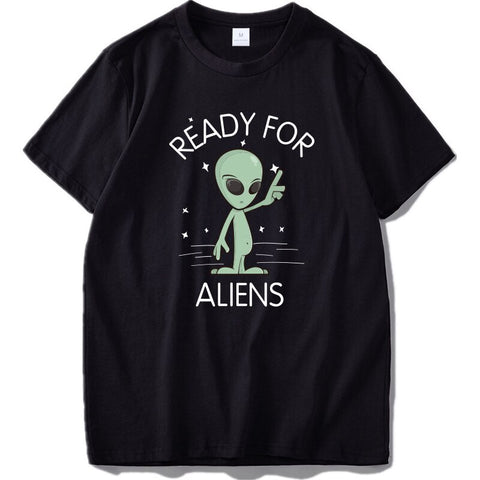 Ready For Aliens T-Shirt Black
