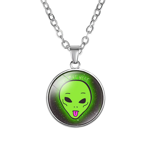 We Out Here Alien Necklace