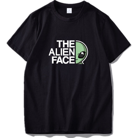 The Alien Face T-Shirt Black