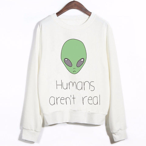 Humans aren't real Alien Hoodie