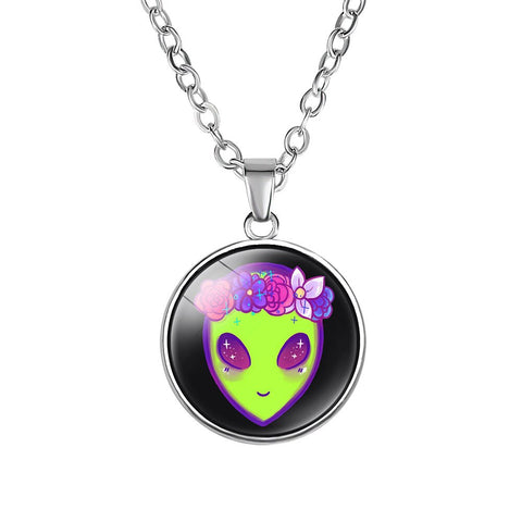 Flower Crown Alien Necklace