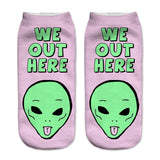 We Out Here Alien Socks