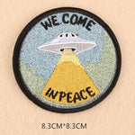 Alien Patch <br> We come in Peace UFO