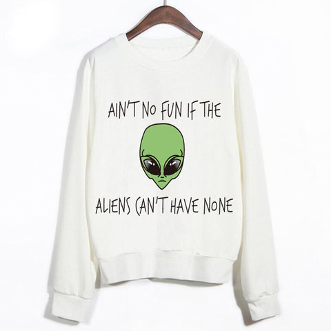 Alien Having no fun Sweater