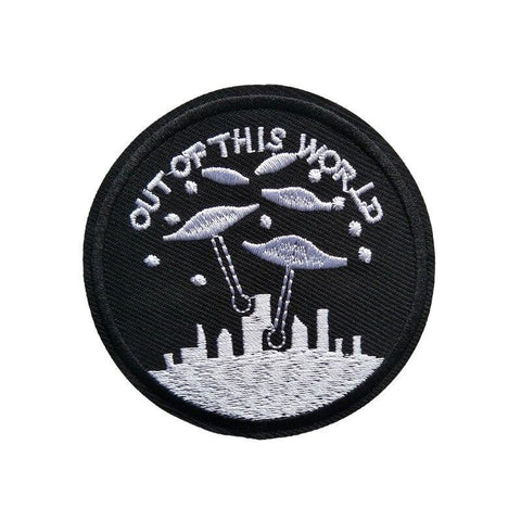out of this world ufo patch