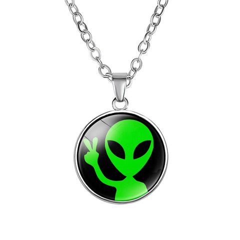 Peace Alien Necklace