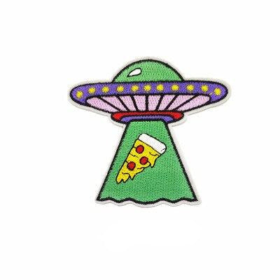 Pizza UFO Alien Patch