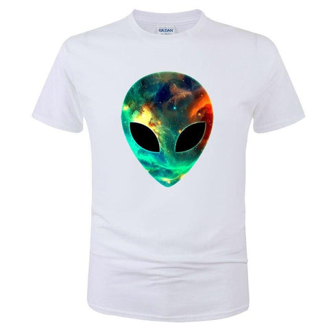 Alien Space Face T-Shirt White